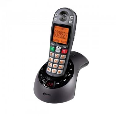 Téléphone amplifié sans fil avec répondeur intégré