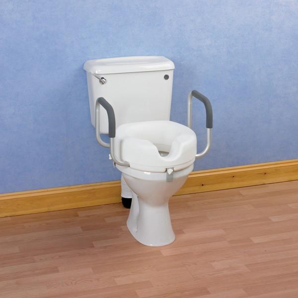 Rehausseur de toilette avec accoudoirs