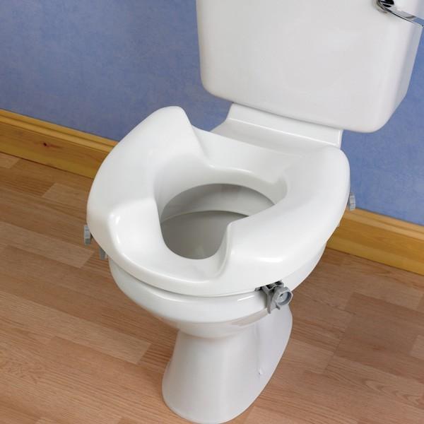 Rehausseur de toilettes Grand accès