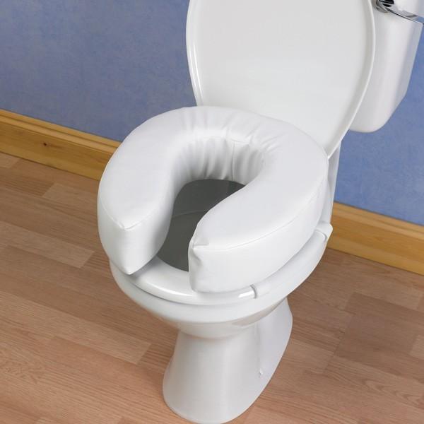 Rehausseur de toilettes rembourré