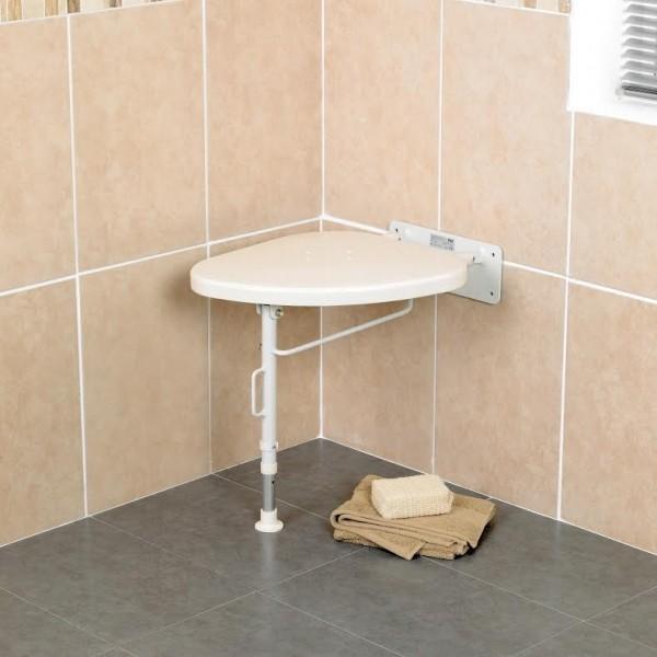 si ge de coin de douche rabattable pour personnes g es et personnes handicap es chaises et. Black Bedroom Furniture Sets. Home Design Ideas