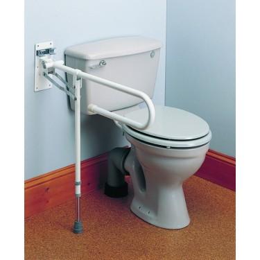 Barre d'appui  de toilette avec pied de soutien