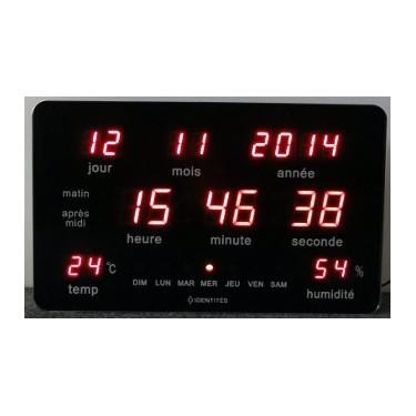 Horloge calendrier à leds