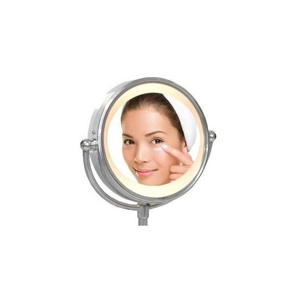 Miroir éclairé sur pied