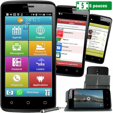 LE SMART ORIGINE 5 POUCES - Smartphone senior
