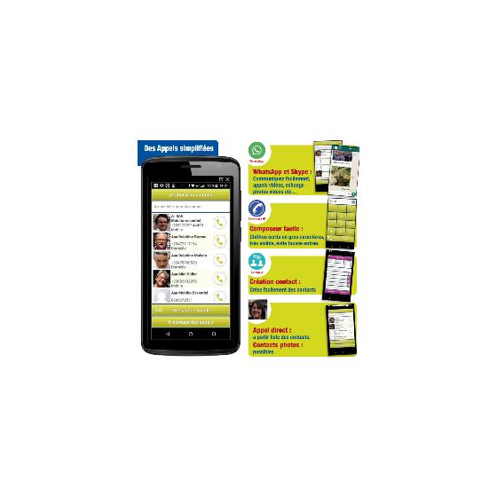 Smartphone conçu pour les seniors