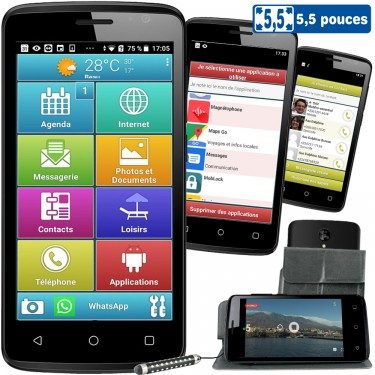 LE SMART ORIGINE 5,5 POUCES - Smartphone senior