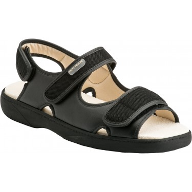 Sandales mixtes pour pieds sensibles Pulman PU1018 noires