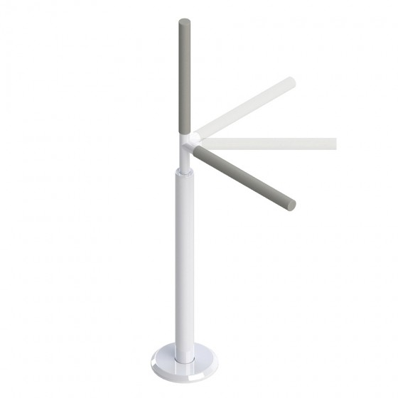 Barre d'appui pivotante: 8 positions de verrouillage tous les 45 degrés