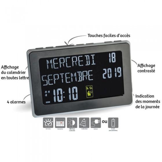 Petite horloge calendrier