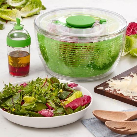 Essoreuse à salade OXO et son vinaigrier