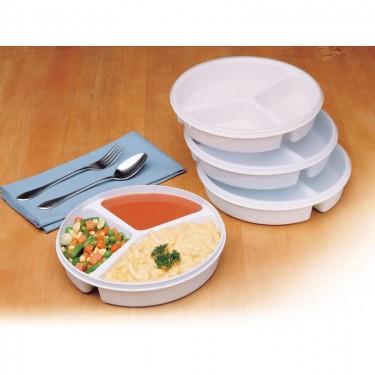 Assiette à compartiment avec couvercle