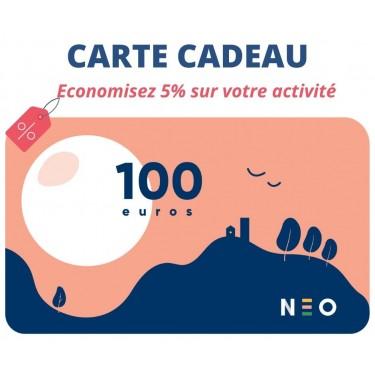 Carte cadeau 100 euros pour les activités NEOSILVER