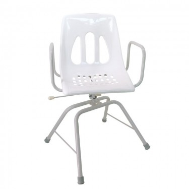 Chaise de douche pivotante