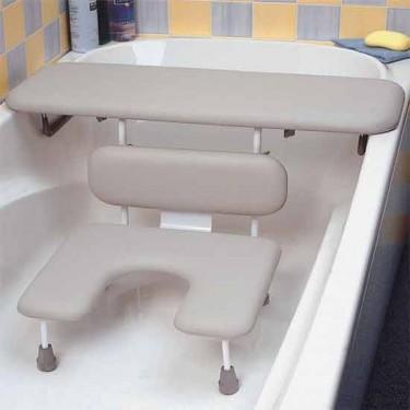 Combiné planche et siège de baignoire
