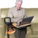 Barre d'appui pour fauteuil avec tablette