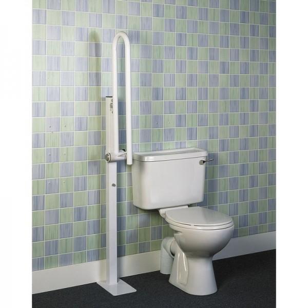 Barre d'appui pour toilettes avec pied