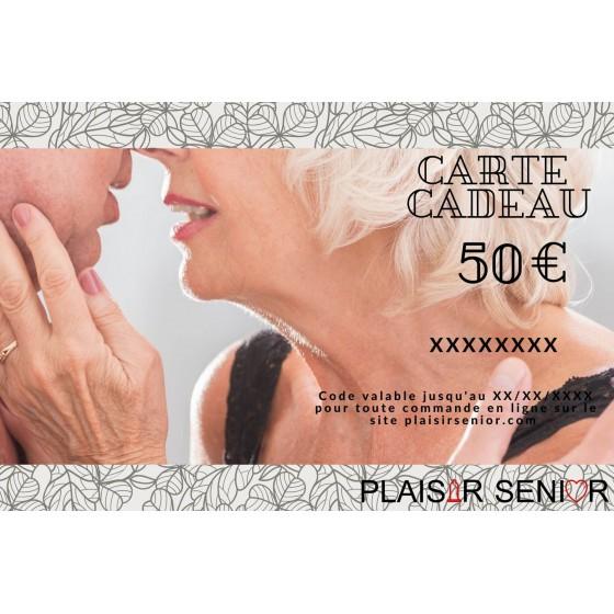 Carte cadeau coquine 50€ plaisirsenior.com