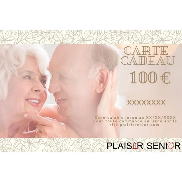 Carte cadeau coquine 100€ plaisirsenior.com
