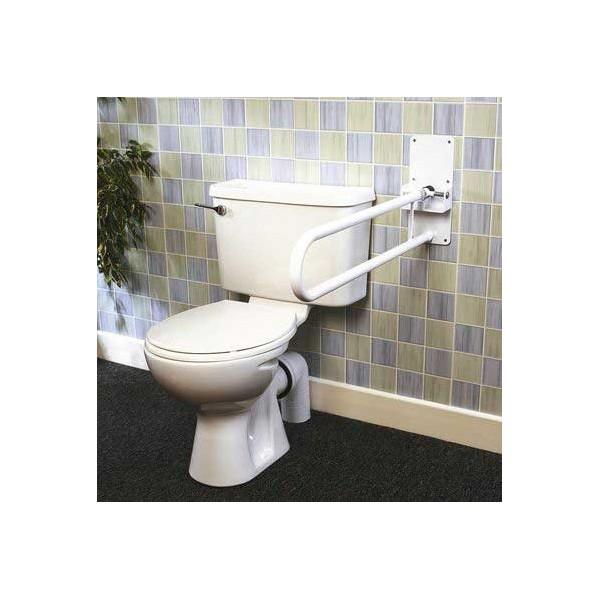 Barre d'appui pliante pour toilette