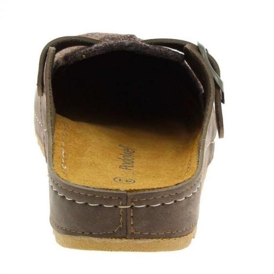 Mule confort Franquin marron