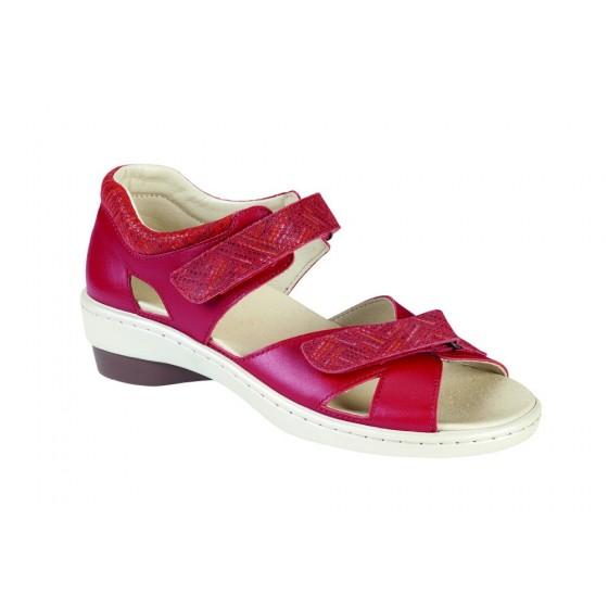 Sandales confort ADOUR 2227c rouge