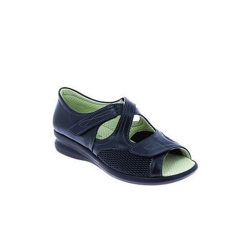 Sandale femme cuir extensible MADISON noir